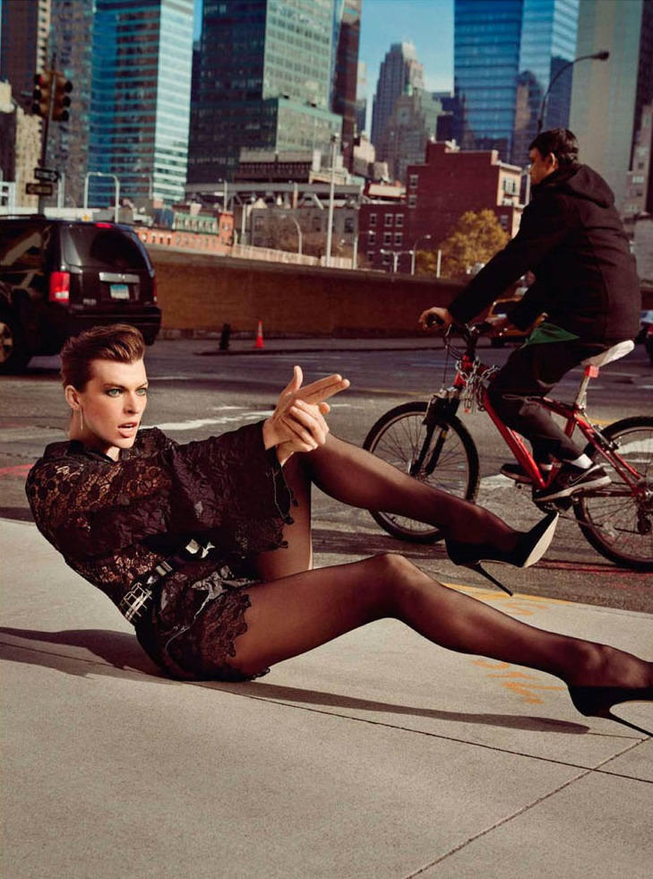 Inez & Vinoodh / Milla Jovovich / Vogue Paris / February 2013