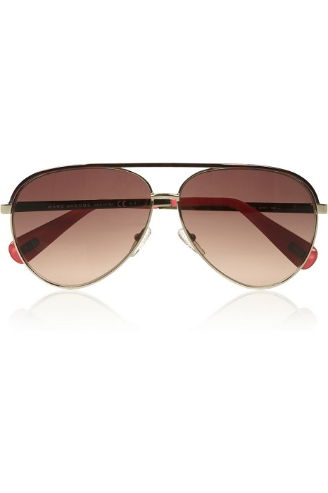 MARC JACOBS   metal aviator sunglasses   currently 55% off