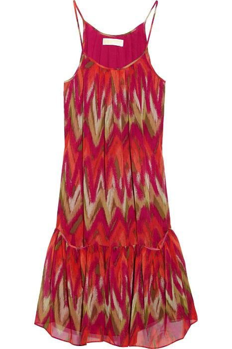 MICHAEL BY MICHAEL KORS   ikat print silk chiffon dress   currently 70% off
