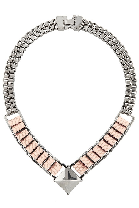 TOPSHOP   box chain leather necklace by CJG   currently 45% off