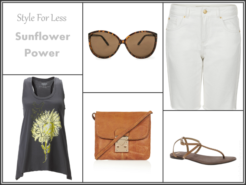 Style For Less Featuring Edun Sunflower Tank Top