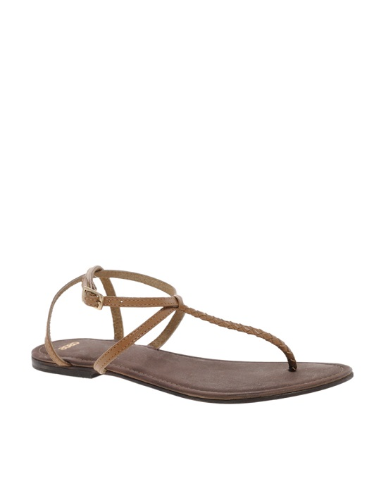 ASOS   leather flat sandals