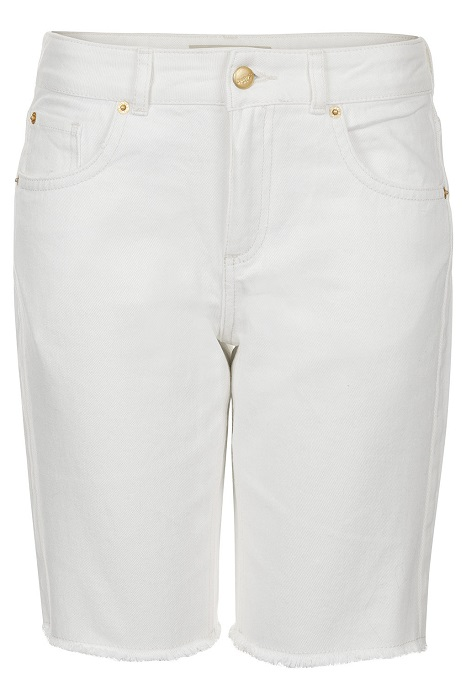 TOPSHOP   moto ecru denim shorts