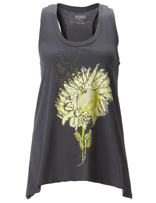 EDUN   sunflower tank top