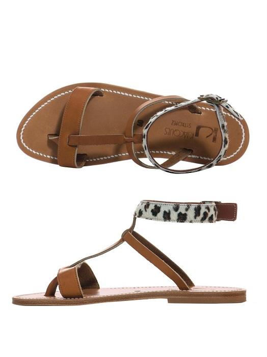K. JACQUES   leopard print flat sandals
