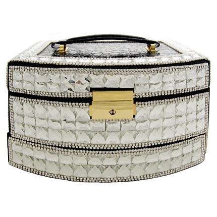 Swarovski crystal jewellery box