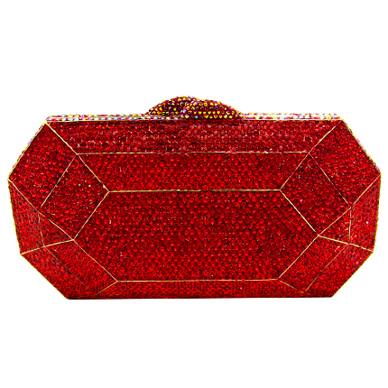 Swarovski crystal art deco style clutch bag