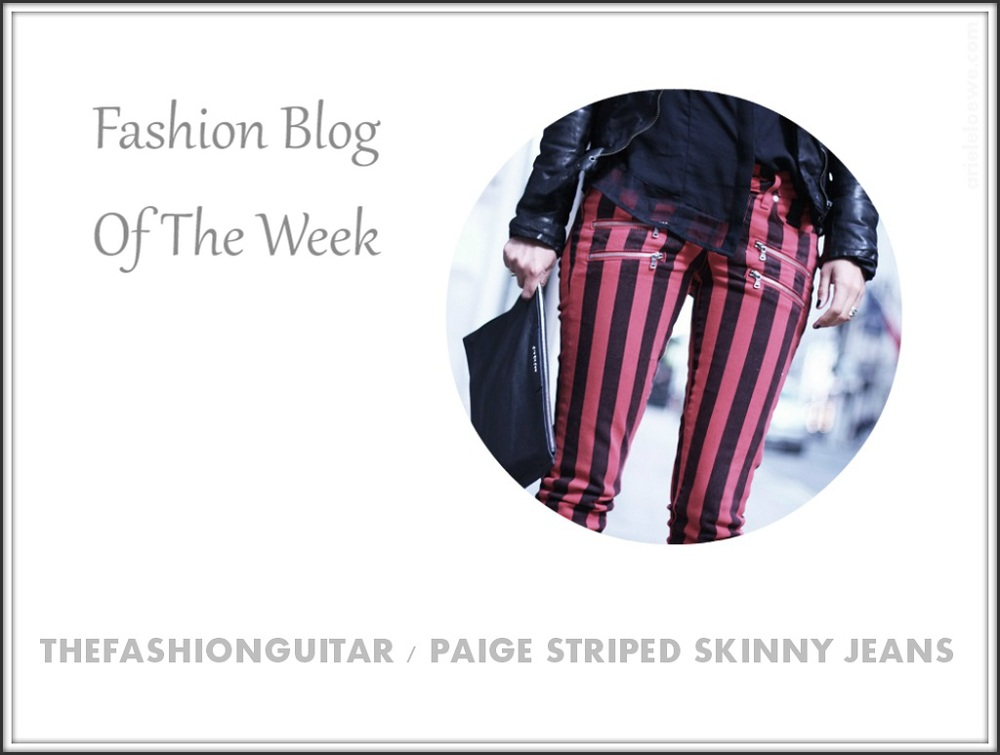 Blog Of The Week Paige Edgemont Stretch Denim Striped Skinny Jeans