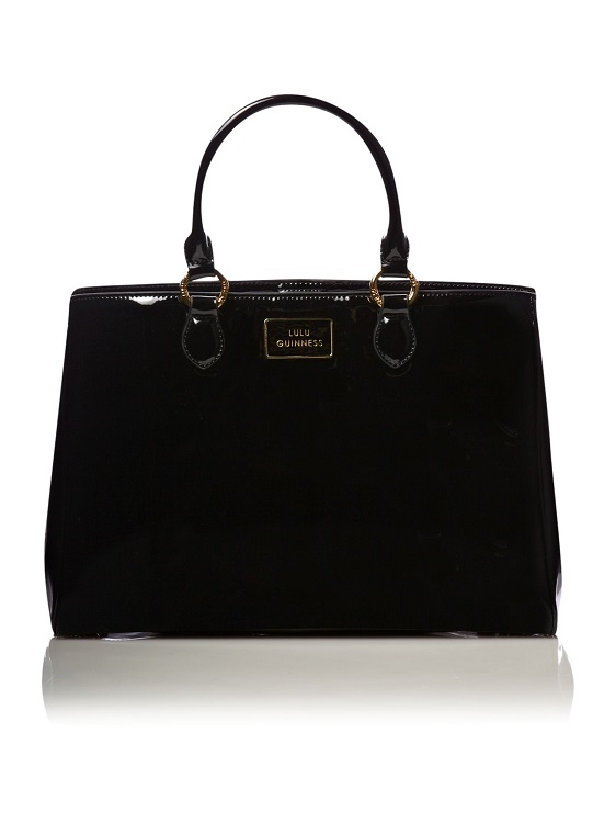 LULU GUINNESS   patent leather tote bag