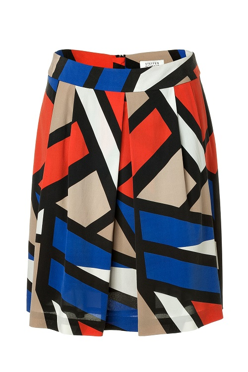 STEFFEN SCHRAUT   multicolour tribeca printed pleated silk skirt