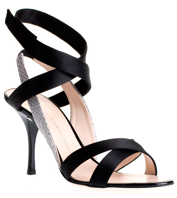 GIUSEPPE ZANOTTI  satin strappy sandal  currently 50% off