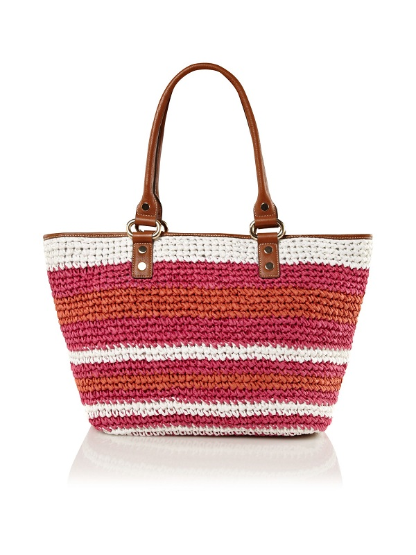 DKNY   straw stripe tote bag   currently 50% off
