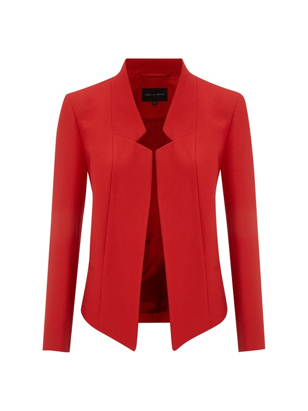 PIED A TERRE   notch detail jacket   currently 70% off