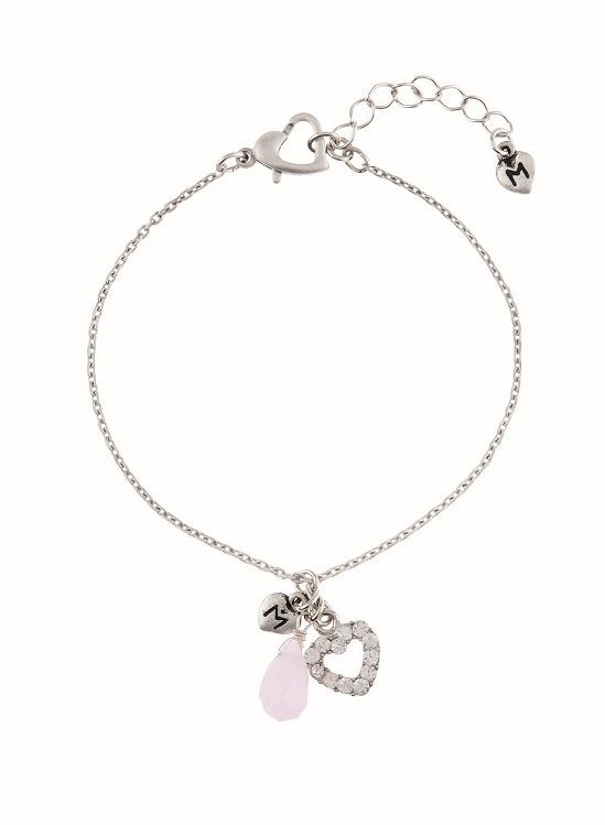 MARTINE WESTER   love heart charmed bracelet