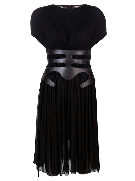 MARIOS SCHWAB   black gathered jersey dress