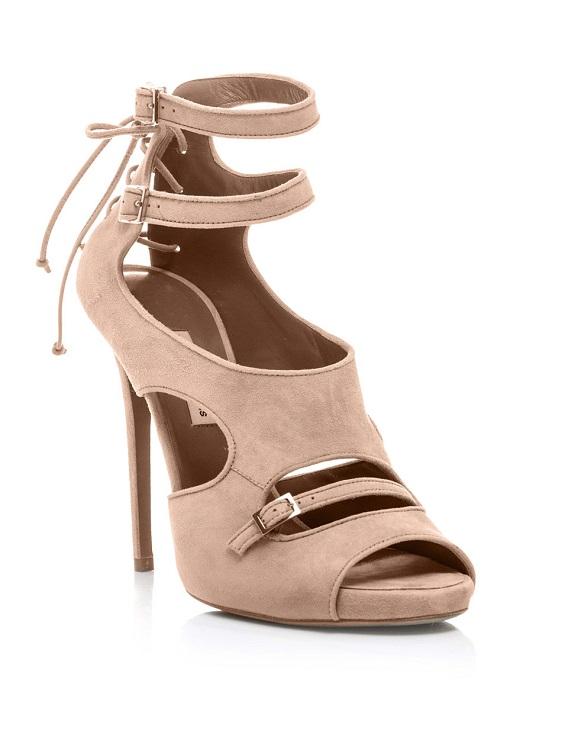 Beige bailey suede sandals