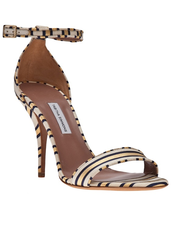Gold cricket ankle strap sandal