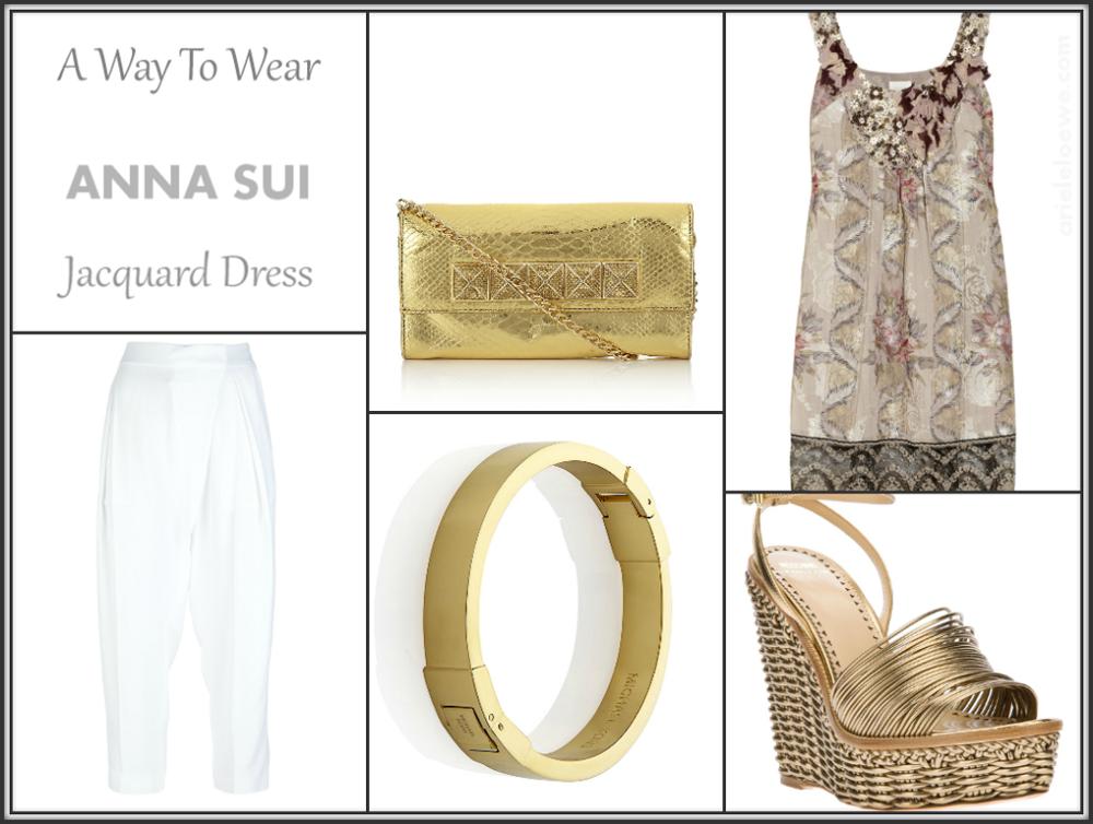 A Way To Wear Anna Sui Jacquard Dress