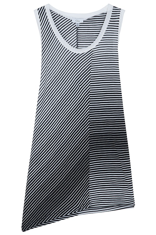 CLU   asymmetric stripe tank top   currently 60% off