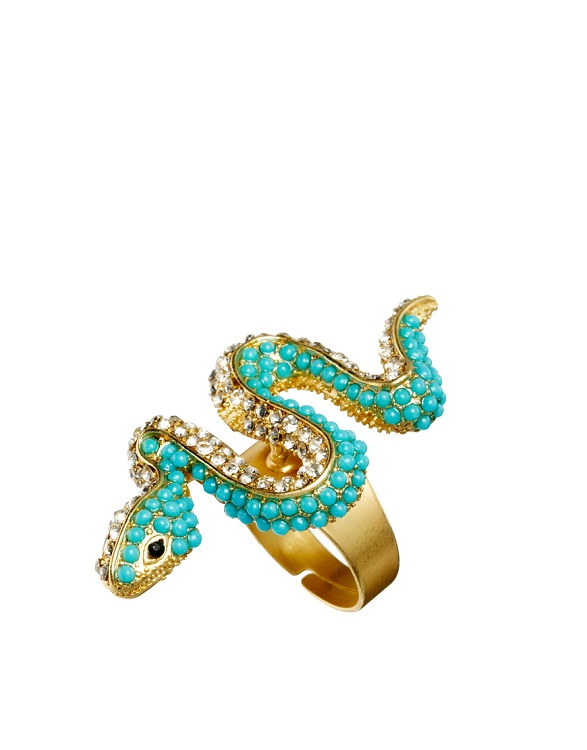 KENNETH JAY LANE   snake ring   currently 50% off