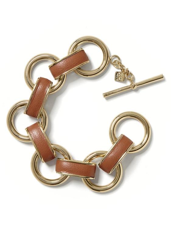 BANANA REPUBLIC   leather link bracelet