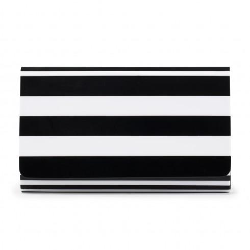 black & white natalia   clutch bag