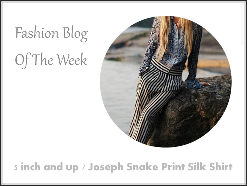Fashion Blog Of The Week Joseph Snake Print Silk Shirt