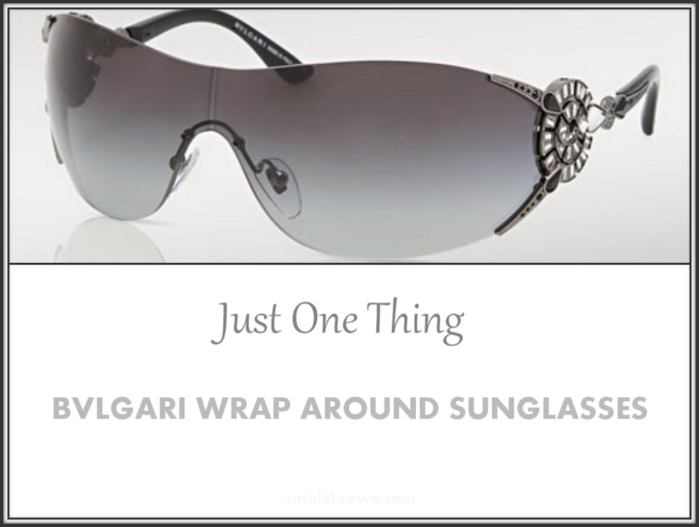 Just One Thing BVLGARI Wrap Around Sunglasses