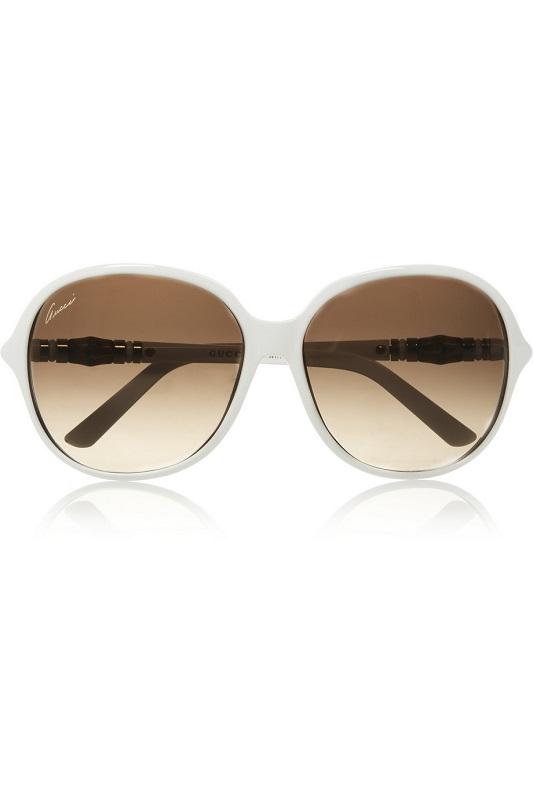 GUCCI  white square frame sunglasses