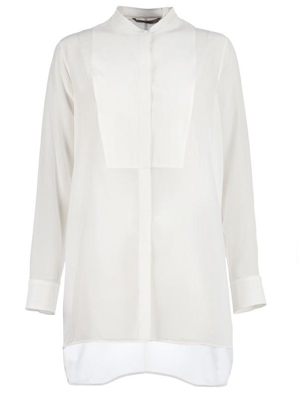 NEIL BARRETT  white blouse & shorts set