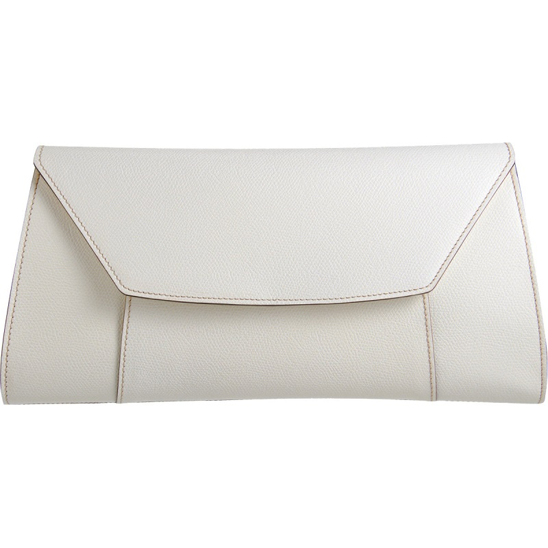 VALEXTRA   white handy clutch bag