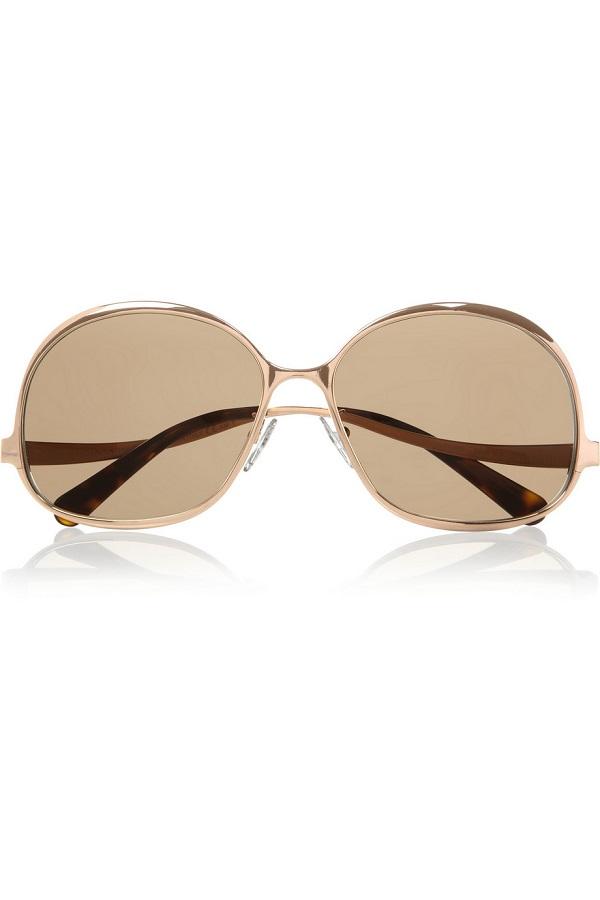 BALENCIAGA   round framed sunglasses   currently 60% off