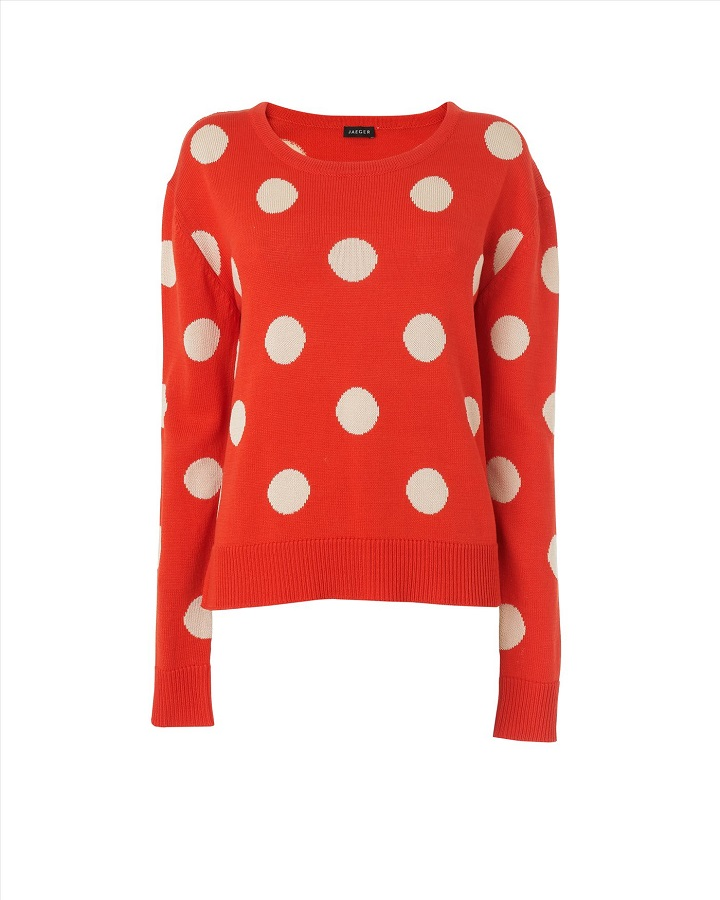 JAEGER   spot sweater   currently 65% off