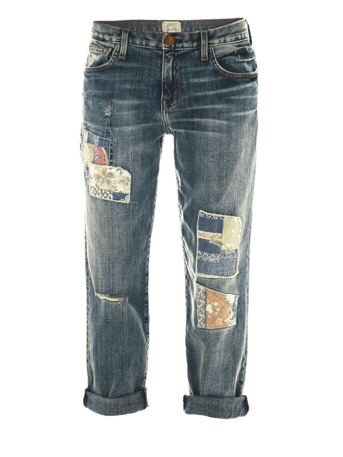 CURRENT/ELLIOTT   low rise boyfriend jeans