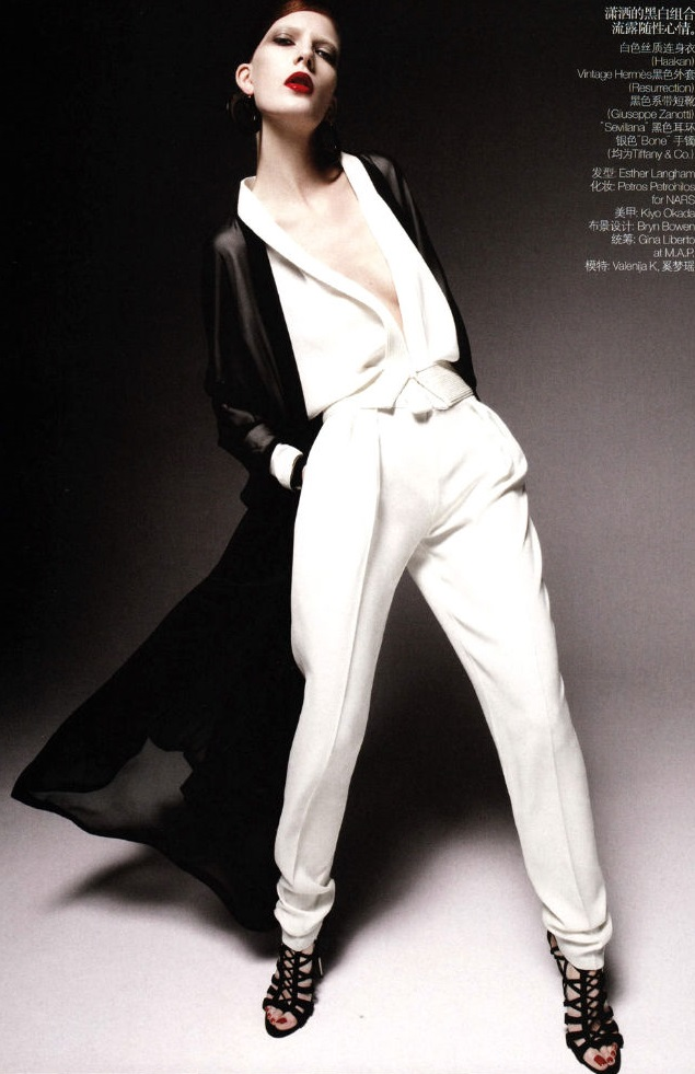 Daniel Jackson / Valerija Kelava / Vogue China / February 2011