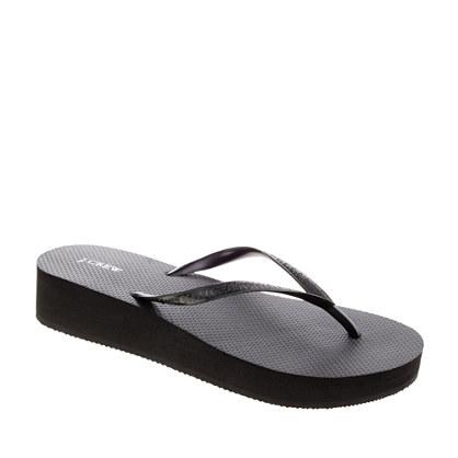 J CREW   wedge flip flops