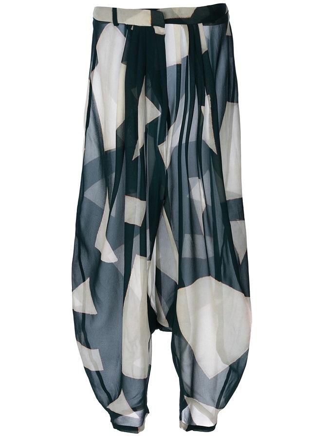 CHRISTIAN WIJNANTS   geometric harem trousers