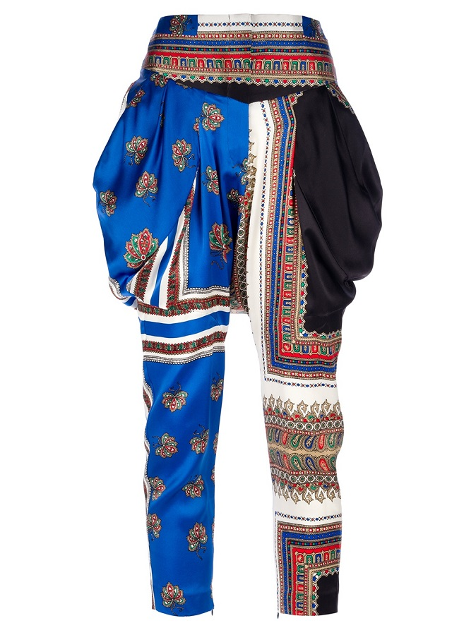 GIVENCHY   printed harem trouser