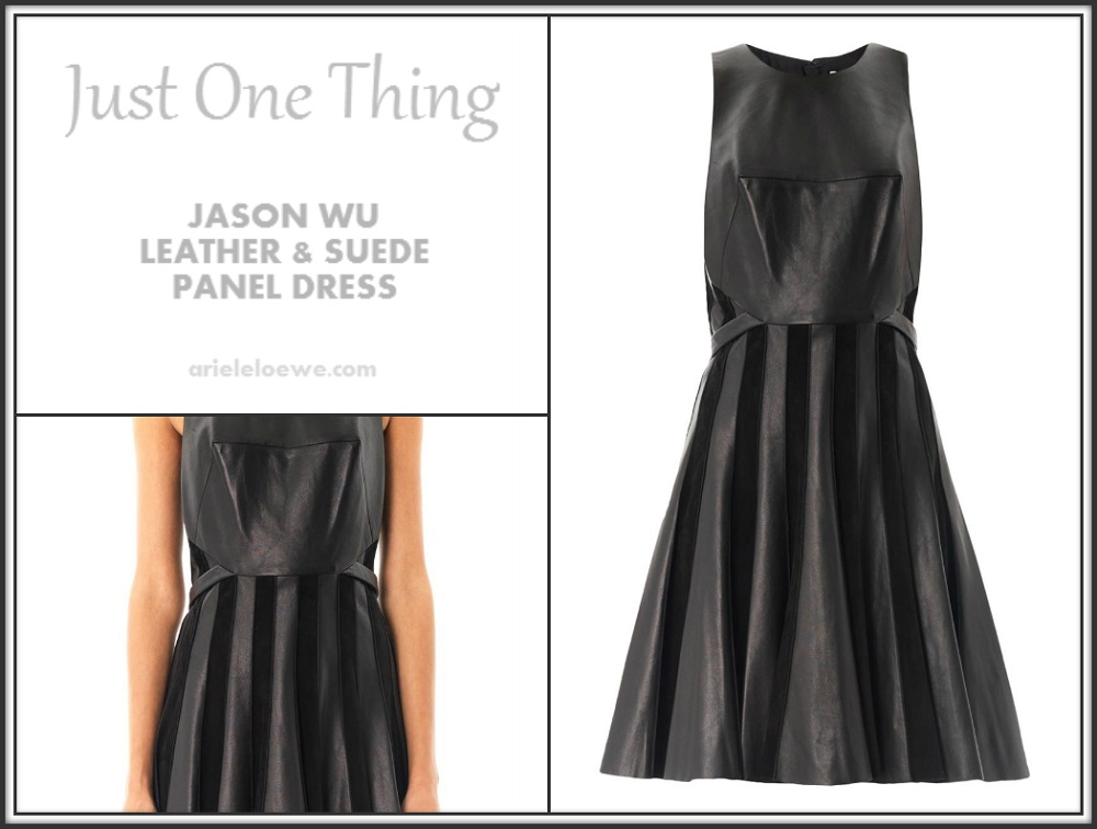 Jason Wu Leather and Suede Panel Skirt
