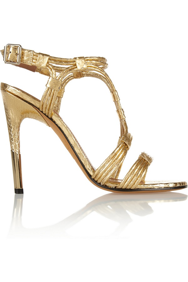 GIVENCHY   metallic sandals