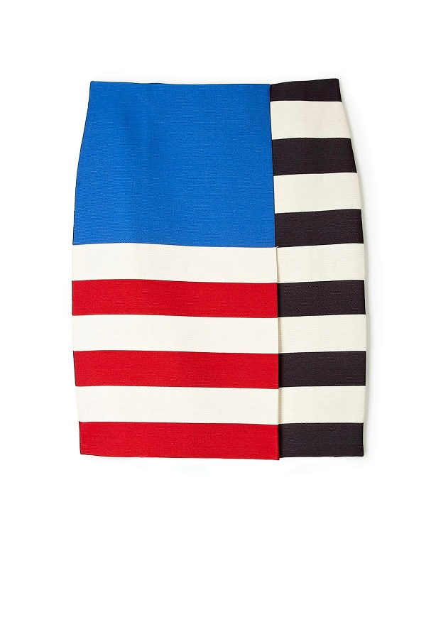 ACNE   layla flag colour block skirt   currently 70% off