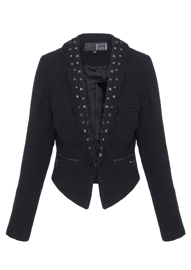 FIRETRAP   raw edge studded suit jacket   currently 80% off