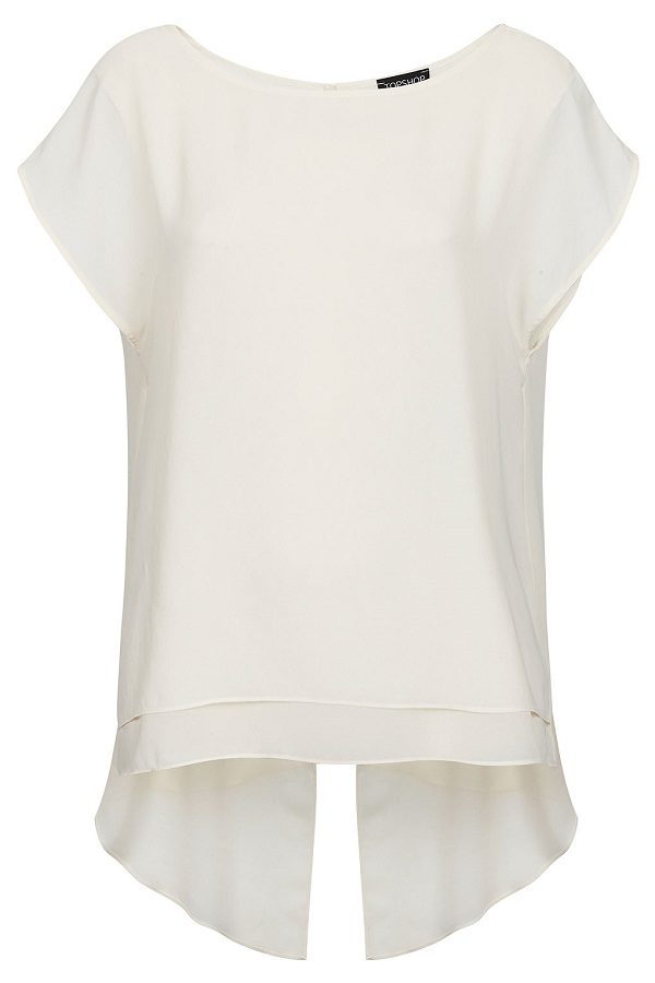 TOPSHOP open back fishtail blouse