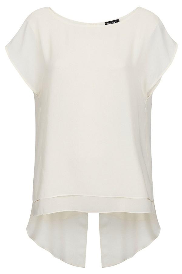 TOPSHOP open back fishtail blouse