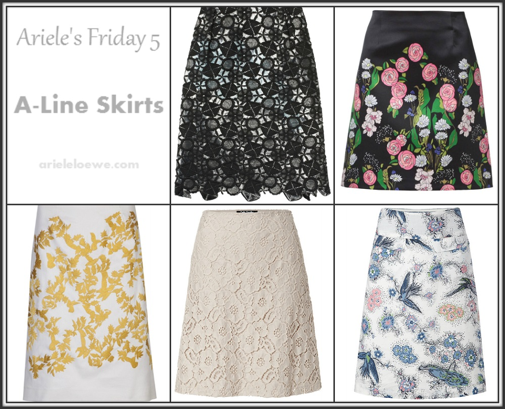 Ariele's Friday 5 A-Line Skirts