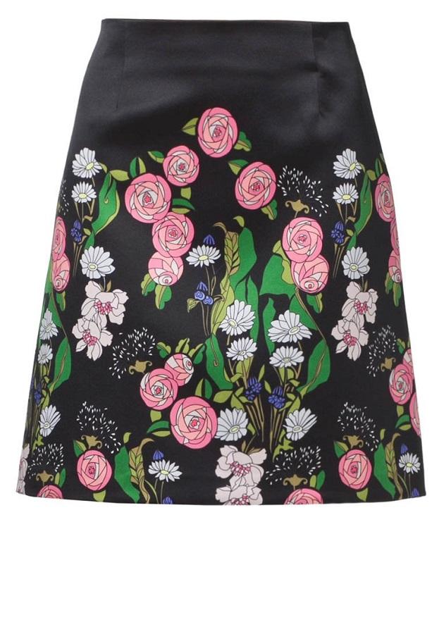 TARA JARMON floral A-line skirt