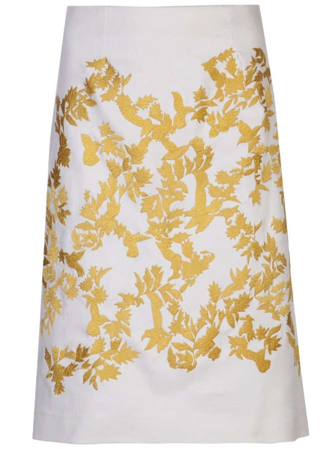 THAKOON   embroidered A-line skirt