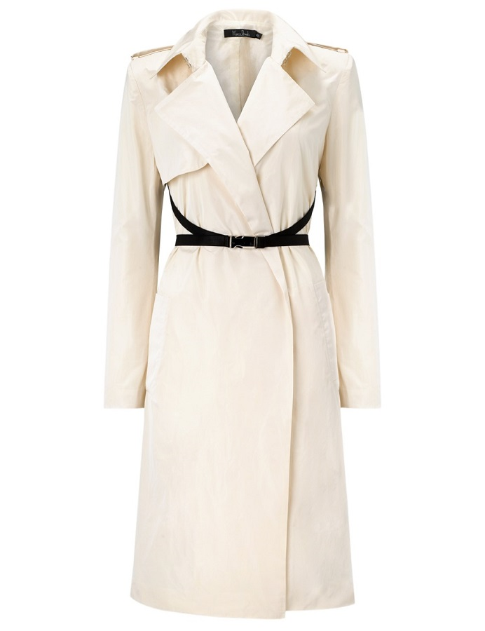 Ivory   trench coat