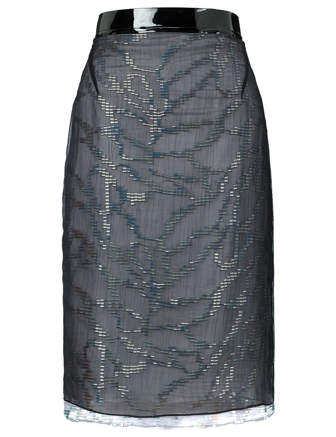 Chiffon   pencil skirt