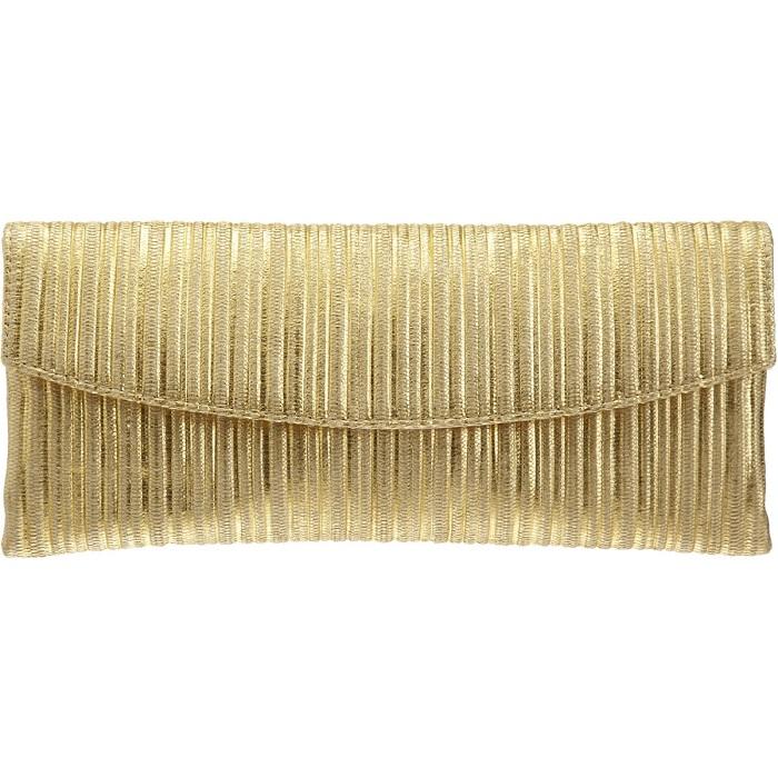 L'WREN SCOTT gold raffia   envelope clutch